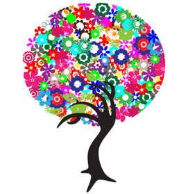 Free Colorful Flowers Tree