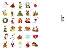 Collection de Noël éléments vectoriels