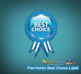 Glossy Best Choice Badge with Ribbon