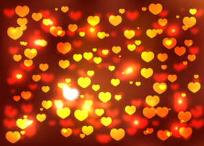 Free Vector Abstract Valentines Day Background with Hearts