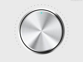 Metal volume knob (PSD)
