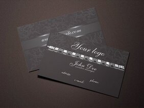Dark Jewelry Business Card Design