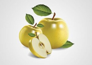Realistic Yellow Apple