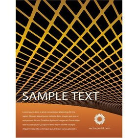 ORANGE GRID ABSTRACT FREE VECTOR.ai