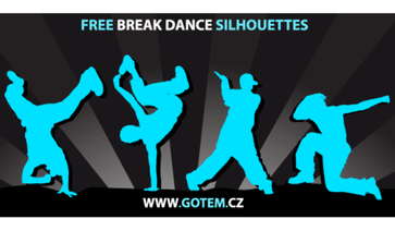 Breakdance Silhouettes Free