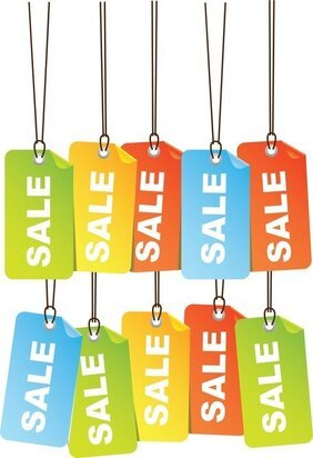 Free Colourful Sale Tags