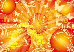 Sun Vector Background Poster