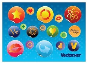 Glossy Design Badges