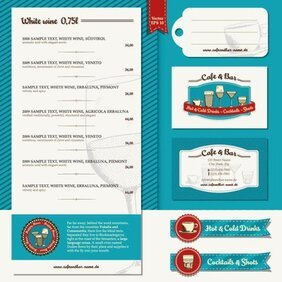 Restaurant menu label template 03