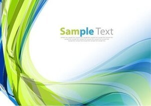 Abstract Green Blue Design Vector Illustration Art Background