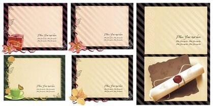 Old stationery templates series of vector material (5)