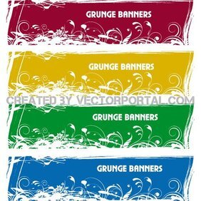 GRUNGE BANNER VECTOR SET.eps