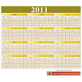 YEAR 2011 FREE VECTOR CALENDAR.eps