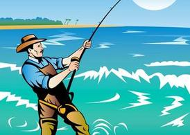 Fishing Man Poster