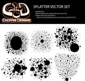 Chopperdesigns Splatter Vector Set
