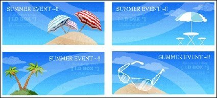Summer beach theme of the seaside Vector icon