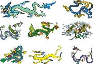 Chinese Classical Dragon Vector Of The Two