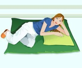Girl in lay position vector 17