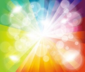 Colorful Burst Bokeh Background