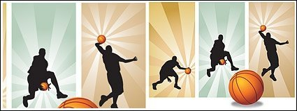 Vector material basketball players in Pictures