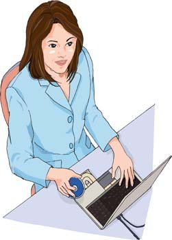 Girls and computer vector 46