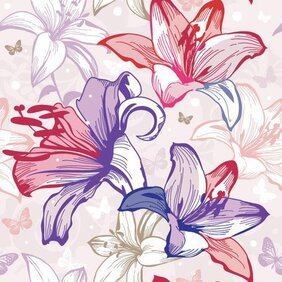 Beautiful flowers and patterns 02