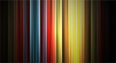 Abstract Rainbow Colors on Black Background