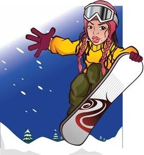 Snow boarding vector 12