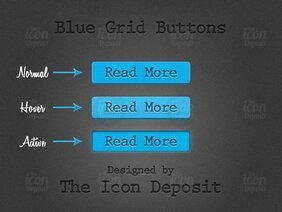 Blue Grid Buttons