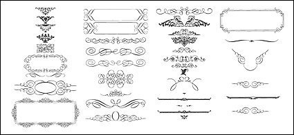Vector exquisite lace