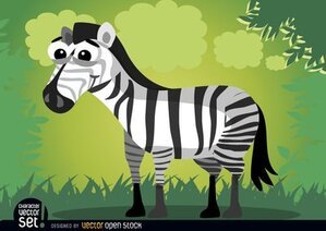 Lachende cartoon zebra dier