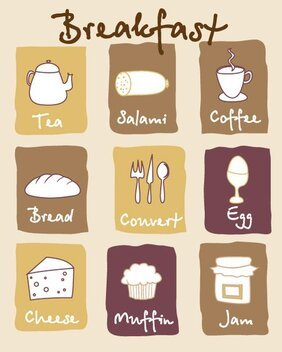 Lovely breakfast icons