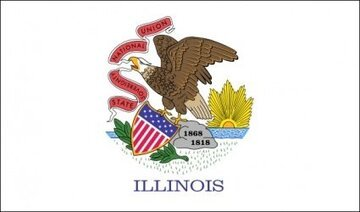 Oss Illinois flagga