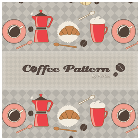 Morning Coffee Pattern - Free Photoshop and Illustrator Patterns