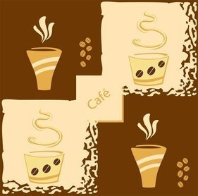 Lovely Coffee Theme Vector 1