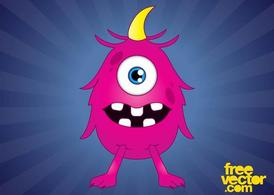 Pink Cartoon Monster