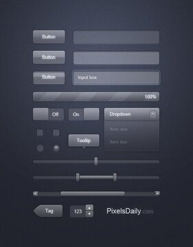 Transparent Glass UI: Free PSD for User Interface Design