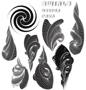 Swirls Free Vector Pack