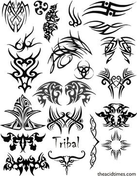 Tribal Vector Set 1 Symbol Vector Tribal Vector Set Tribal Vectors