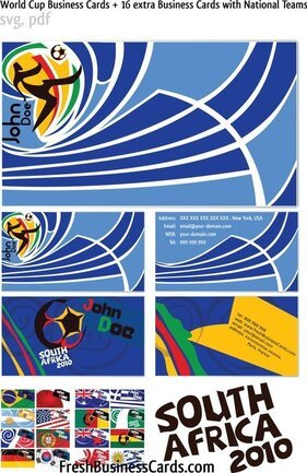 World Cup Vector Business Cards