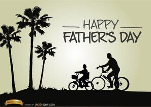 Father's day riding bike with son