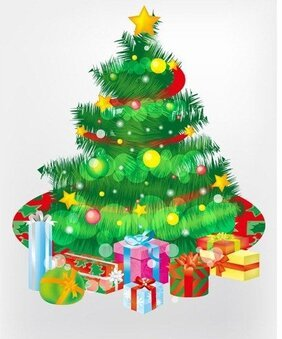 Free Christmas Tree and Gift Boxes