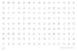 Simple lines, a number of practical small icon vector materi