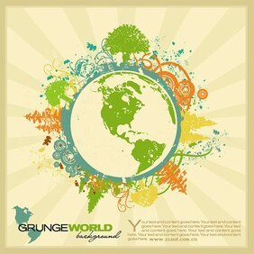 Stock Vector Illustration trend of the Earth Theme