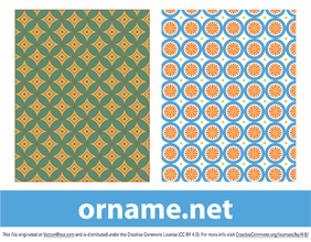 Two Vector Egyptian Patterns