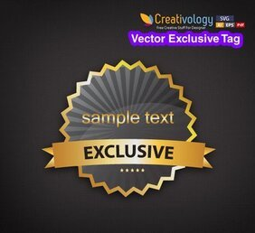 Modern Elliptical Exclusive Tag