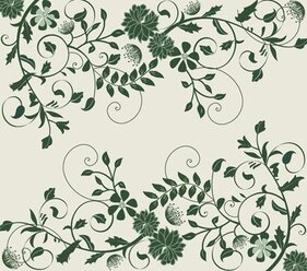 Elegant Green Floral Background