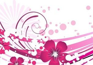 Pink Flower with Abstract Background