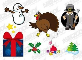 Christmas icons and illustrations