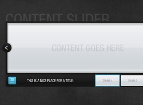 Stylish content slider